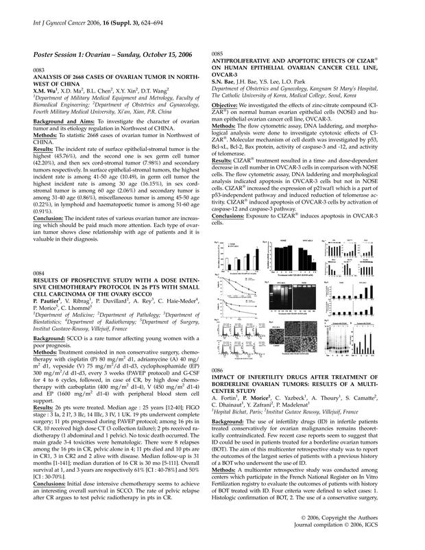0124 Neoadjuvant Chemotherapy Paclitaxel Pegylated Liposomal Doxorubicin Pld Carboplatin In Ovarian Cancer Figo Stage Iii C International Journal Of Gynecologic Cancer