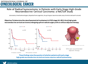 Radical Hysterectomy and Early-Stage High-Grade Neuroendocrine Cervical Carcinoma